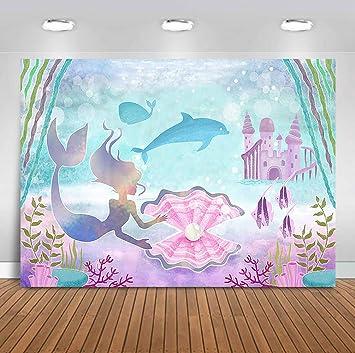 Amazon.com: Sensfun - Fondo de vinilo con diseño de sirena ...