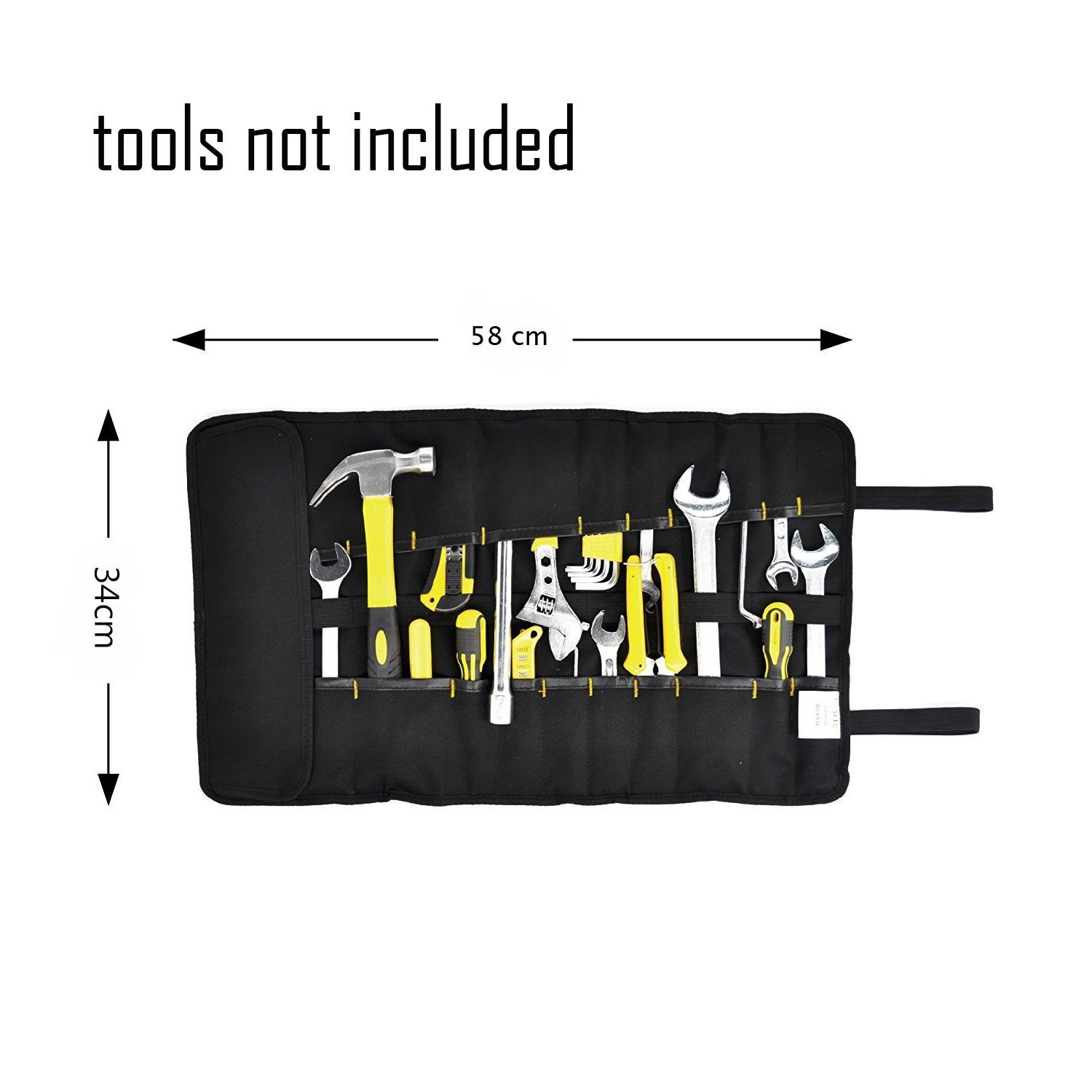 FASITE 35 Pockets Multi Purpose Tool Roll Up Wrench Pouch Organizer with Handle for Handymen Plumber Craftsmen DIY Fun Enthusias Best Gift for Craftwork (Blue) by BES CHAN (Image #3)
