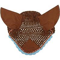 DYNWAVE Breathable Horse Handmade Ear Bonnet/Net/Hat Crochet Fly Veil Soft Cotton