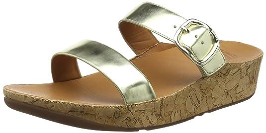 FitFlop Damen Stack Slide Sandalen, Gold (Goldfarben), 39 EU