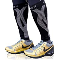 BLITZU Calf Compression Sleeve Leg Performance Support Shin Splint & Calf Pain Relief. Men Women Runners Guards Sleeves…
