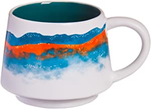 Cypress Home Glistening Waters Hand-Crafted Artisans Series Ceramic Mug, 12 ounces in Giftable Box