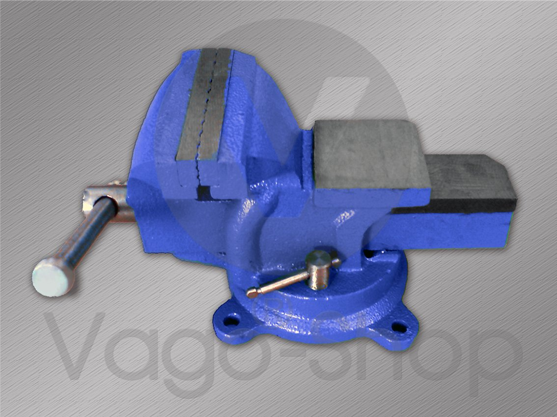 Schraubstock Parallel 100 mm 4 drehbar 360/° f/ür Werkbank Amboss Drehteller BLAU
