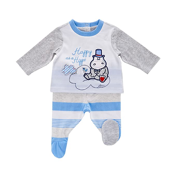 Chicco - Pijama Entero - para bebé Niño Azul Celeste 56 cm (Talla de Fabricante