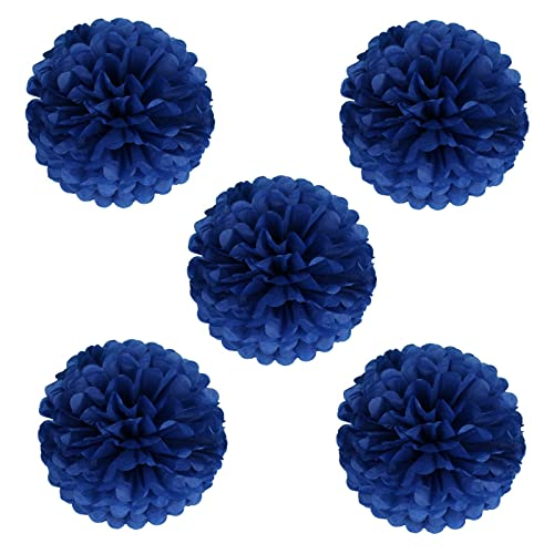 Navy wedding decorations amazon vlovelife 10 inch tissue paper pom poms garlands paper ball paper flowers for wedding party birthday junglespirit Image collections
