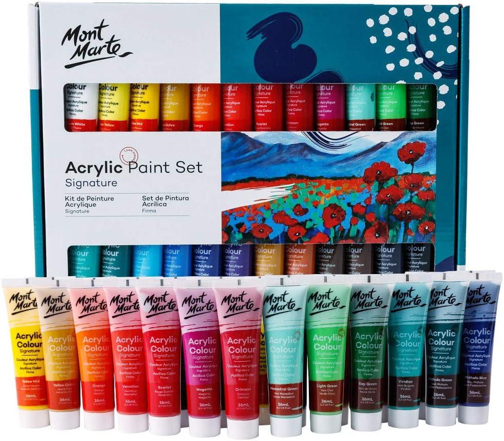 Set de pintura acrílica Mont Marte.24 colores
