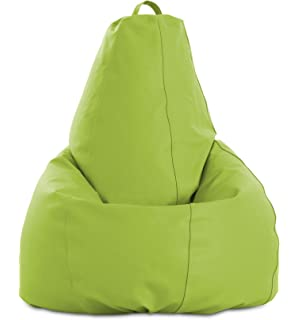 textil-home Pera-XL-Pistacho Puf - Pera Moldeable XL, Tejido Polipiel