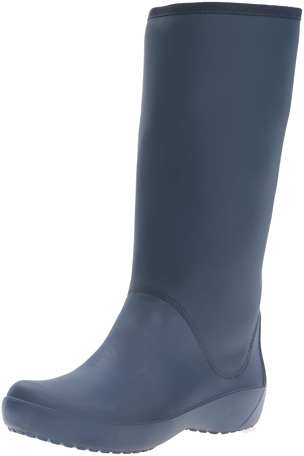Crocs Women's Rain Floe Tall Boot B01A6LK584 5 B(M) US|Navy