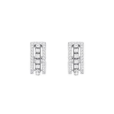 f17b0128f Swarovski Further Pierced Earrings, White, Rhodium plating: Amazon.co.uk:  Jewellery