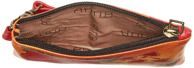 Coin Purse 1828 Anna by Anuschka Hand Painted Leather Medium Organizer Pouch