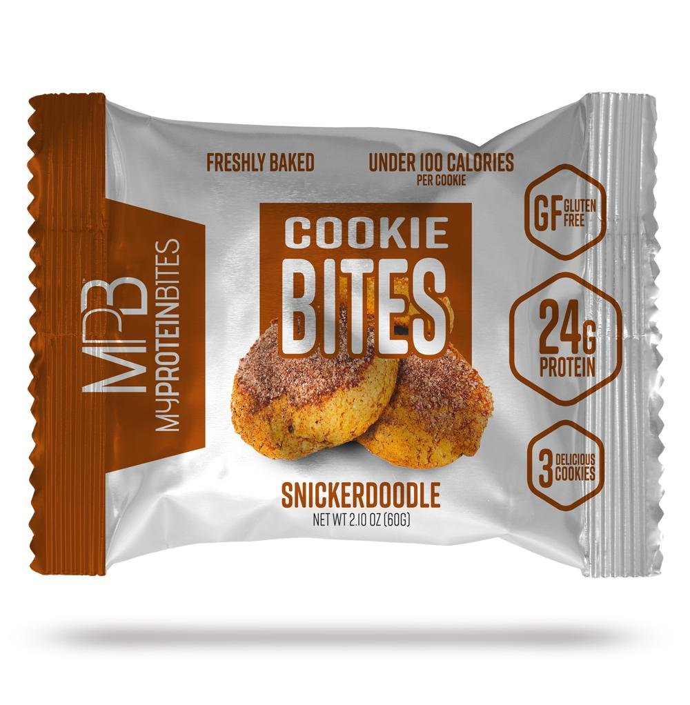 My Protein Bites | Protein Cookies | 24 Grams of Protein, Low Carbs & Low Sugar | Gluten Free | (Snickerdoodle)