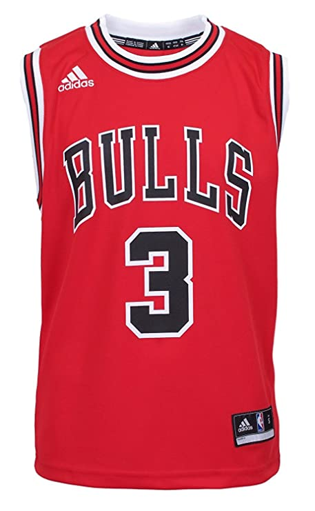 NBA Chicago Bulls Dwyane Wade Youth 8-20 Replica Road Jersey Red (Red,