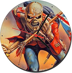 Iron Maiden The Trooper Reloj de Pared Wall Clock 20cm