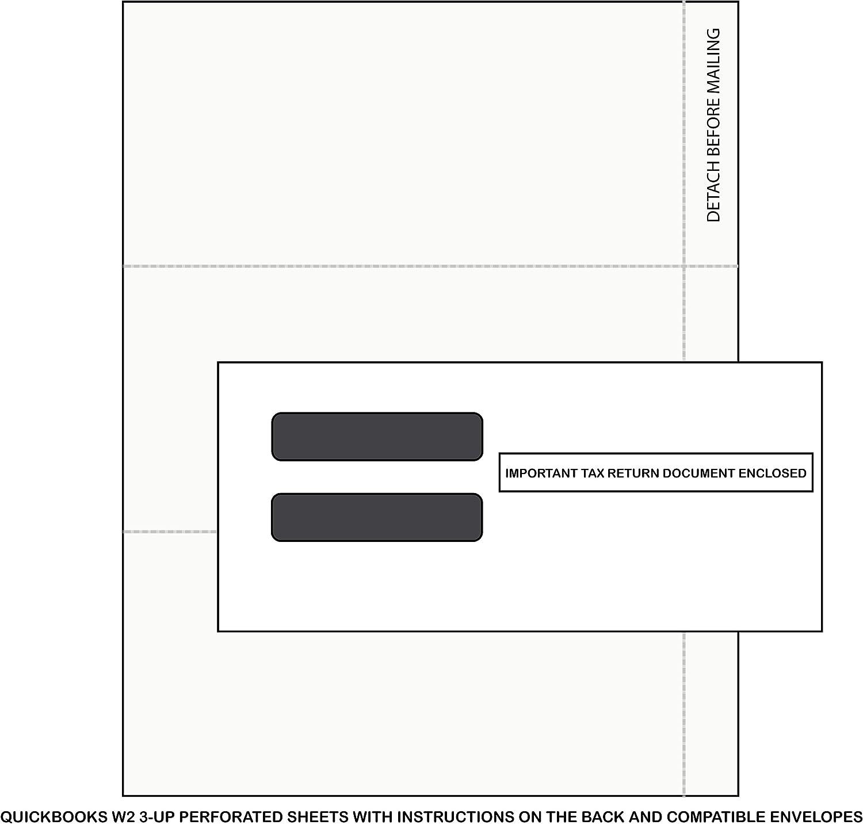 Amazon Quickbooks W2 Forms And Envelopes 100 Quickbooks