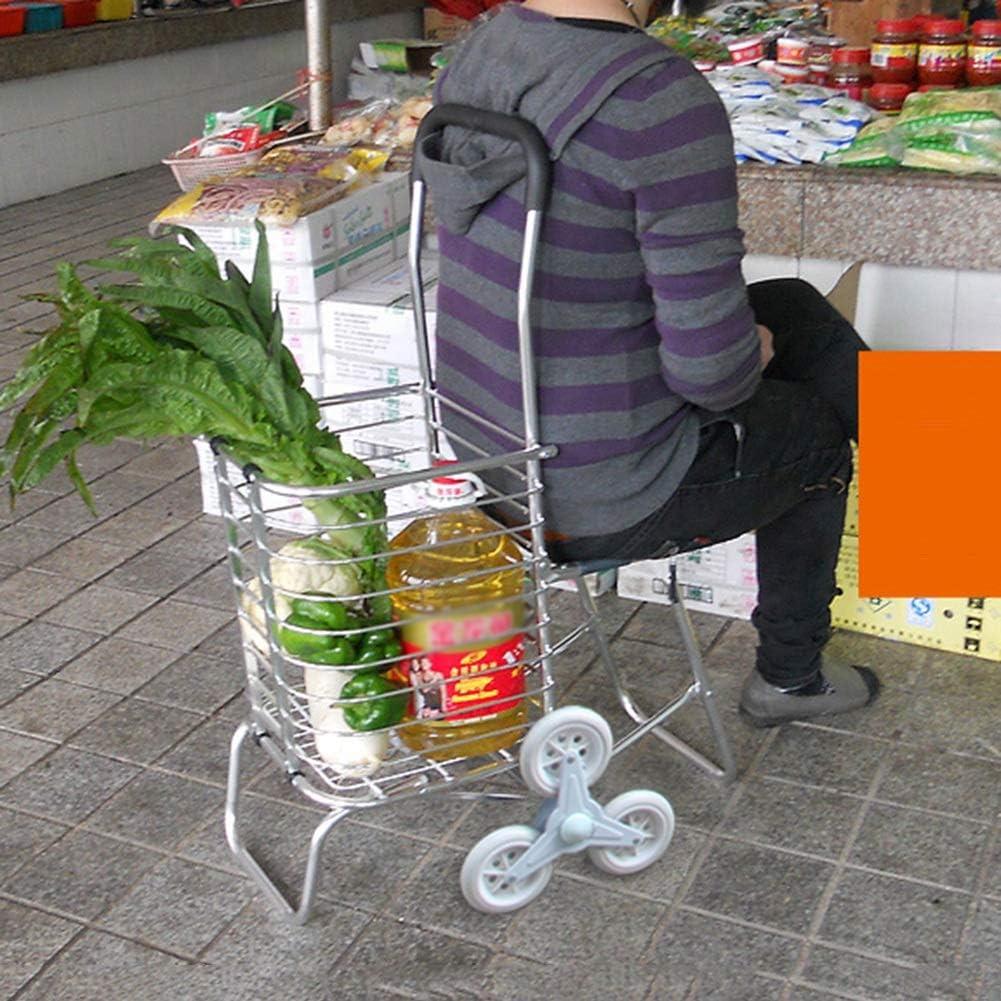 Color : 2 Wheels, Tama/ño : 31 x 38 x 94cm QIANGDA-Carros Carrito Compra Plegable Marco De Acero Inoxidable No Se Oxida Los Ancianos Subir Escaleras Fuerte Capacidad De Carga con Ruedas De 2//4//6//8