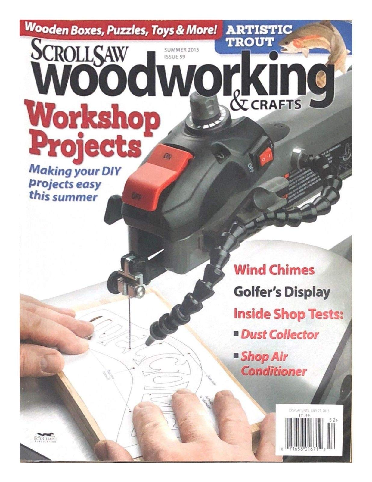 SCROLL SAW WOOD WORKING & CRAFTS MAGAZINE,WORKERSHOP PROJECTS, DISPLAY JUL,7,15