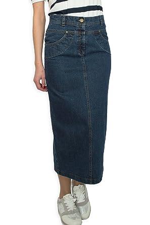 093107c68298 Décontractés Boutique Fashion longue Bleu denim Crayon Jupe jeans EU 36 38  40 42 44 46