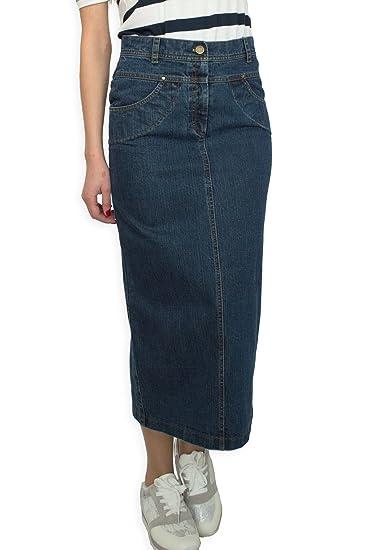 neue Version Promo-Codes Sonderpreis für Damen Freizeit Rock Bleistift voller Länge Boutique Blau Denim Jeans Größe  EU 36 38 40 42 44 46 48 50