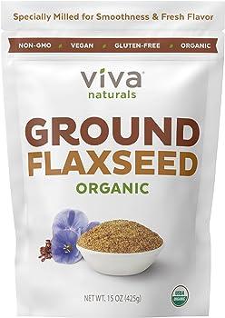 Viva Naturals 15oz The BEST Organic Ground Flax Seed