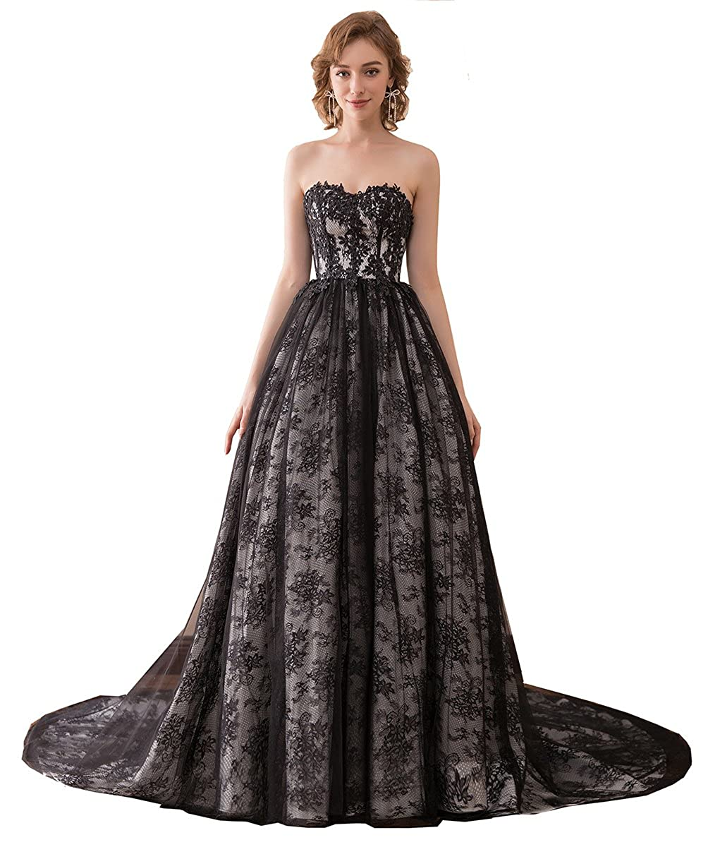 7aa76af5f Lace-up Build in Bra Handmade Dress Ball Gown Sweep Train Prom Dress  Printed