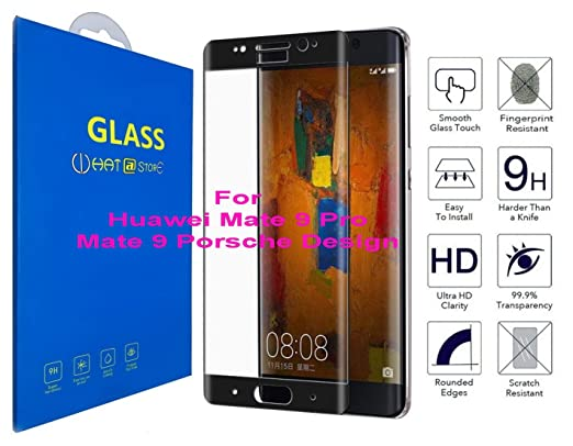 What@Store Huawei Mate 9 Pro/Mate 9 Porsche Design 3D Curved Tempered  Glass, 3D Edge to Edge Full Coverage Screen Protector for Huawei Mate 9