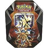 Pokemon TCG: Dusk Mane Necrozma-GX Prism Tin | Collectible Trading Card Set | Features 4 Booster Packs, 1 Ultra Rare Foil Dusk Mane Necrozma-GX Card Plus Bonus Online Code Card