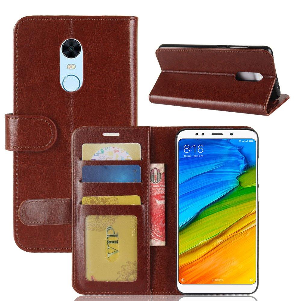 غطاء Xiaomi Redmi 5 Plus محفظة حالة ، GOGME [محفظة سلسلة] غطاء جميل في الجلد البيئي من نوعية لينة ممتازة ، حالة جميلة ، والجلود فو لينة وأنيقة وقوية.