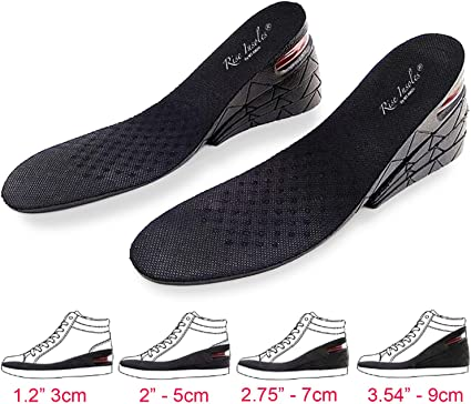 Full length 3-Layer Orthotic Shoe Insoles Lift Kit Inserts for Women Men Heels