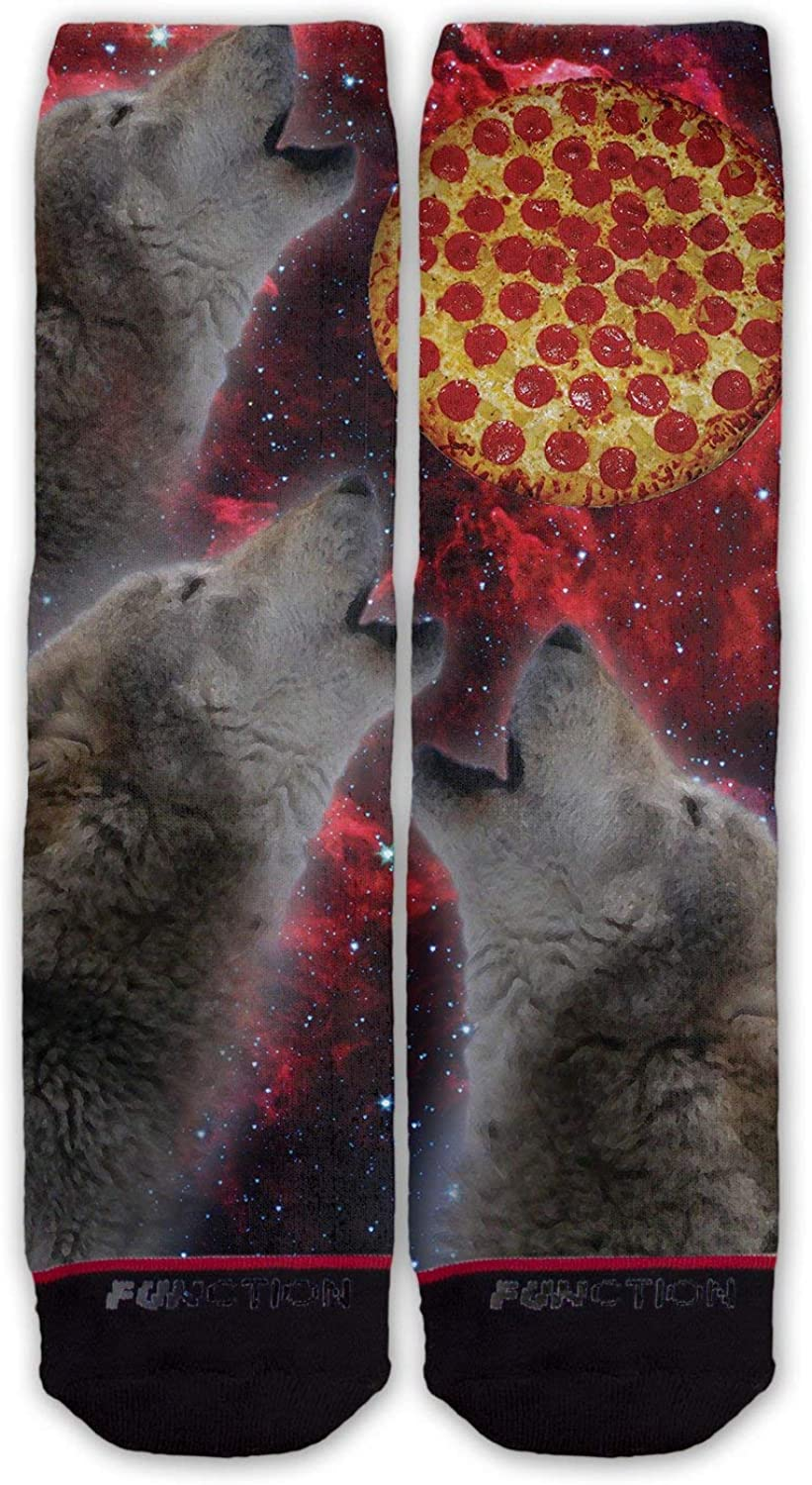 Function Wolves Howling At The Moon Fashion Socks