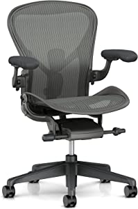 Herman Miller Aeron Ergonomic Chair - Size A, Carbon