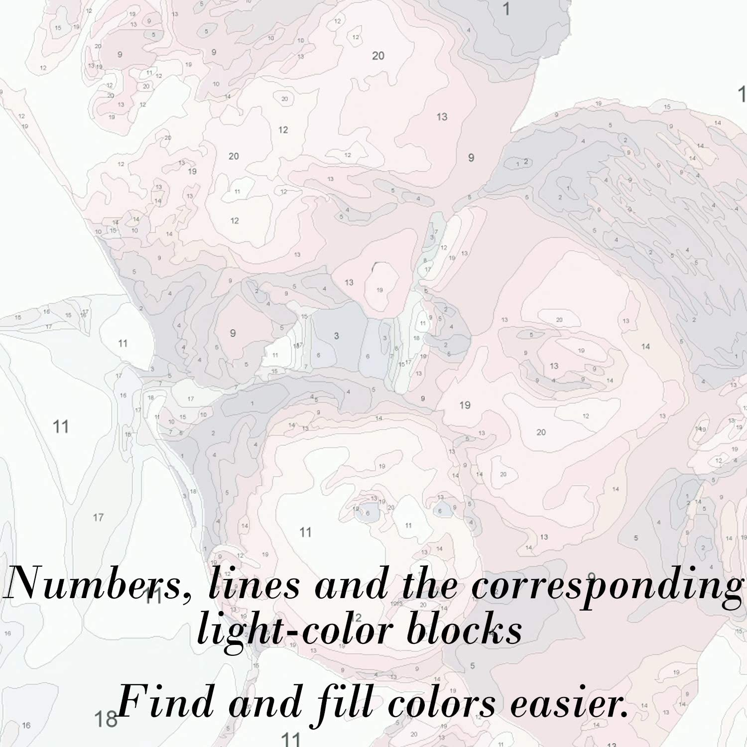 Customized DIY Paint by Numbers Set Painting for Beginners Texture of Dreams Personalized Paint by Numbers Kit for Adults 18 x 24 Acrylic Painting Oil Painting on Framed /& Stretched Canvas