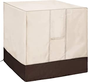 Qualward Air Conditioner Cover for Outside Units, AC Cover for Outdoor Central Unit Heavy Duty Water-Resistant Design - Square Fits up to 30 x 30 x 32 Inches