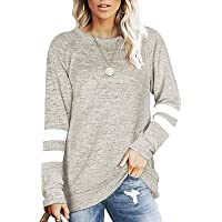 Women's Color Block Sweatshirts Hoodie V Stitch Long Sleeve Drawstring Shirts Fall Winter Casual Loose Pullover Top