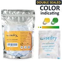 5 Gram [60 PACKS] Silica Gel Desiccant Packets with Orange Beads Humidity Indicator Safe Double Packed for Air Dryer Moisture Removal, Food Grade …