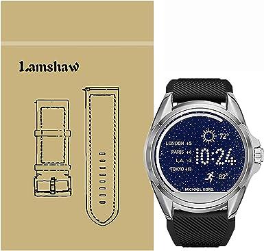 Ceston Moda Aire Deporte Silicona Clásico Correas para Smartwatch Michael Kors Bradshaw (Negro): Amazon.es: Ropa y accesorios