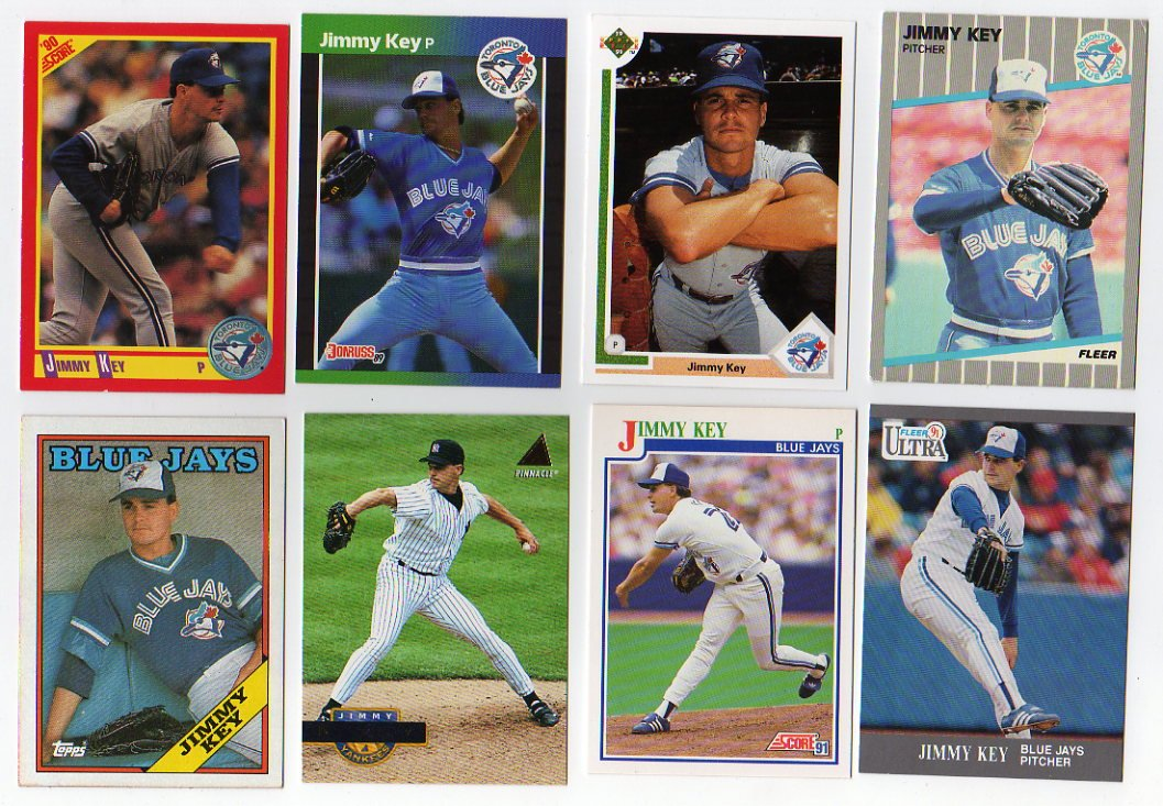 Amazoncom 25 Assorted Jimmy Key Baseball Cards Sports