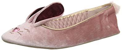 790d206ff387 Ted Baker Women s Bhunni Velvet Slip On Ballerina Slipper Rose-Rose-3 Size 3