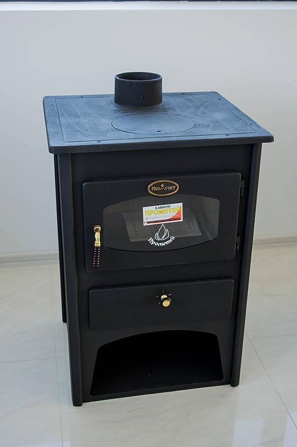 Hierro fundido estufa de leña Combustible Sólido Top 8 kW hierro fundido prometey Junta: Amazon.es: Bricolaje y herramientas