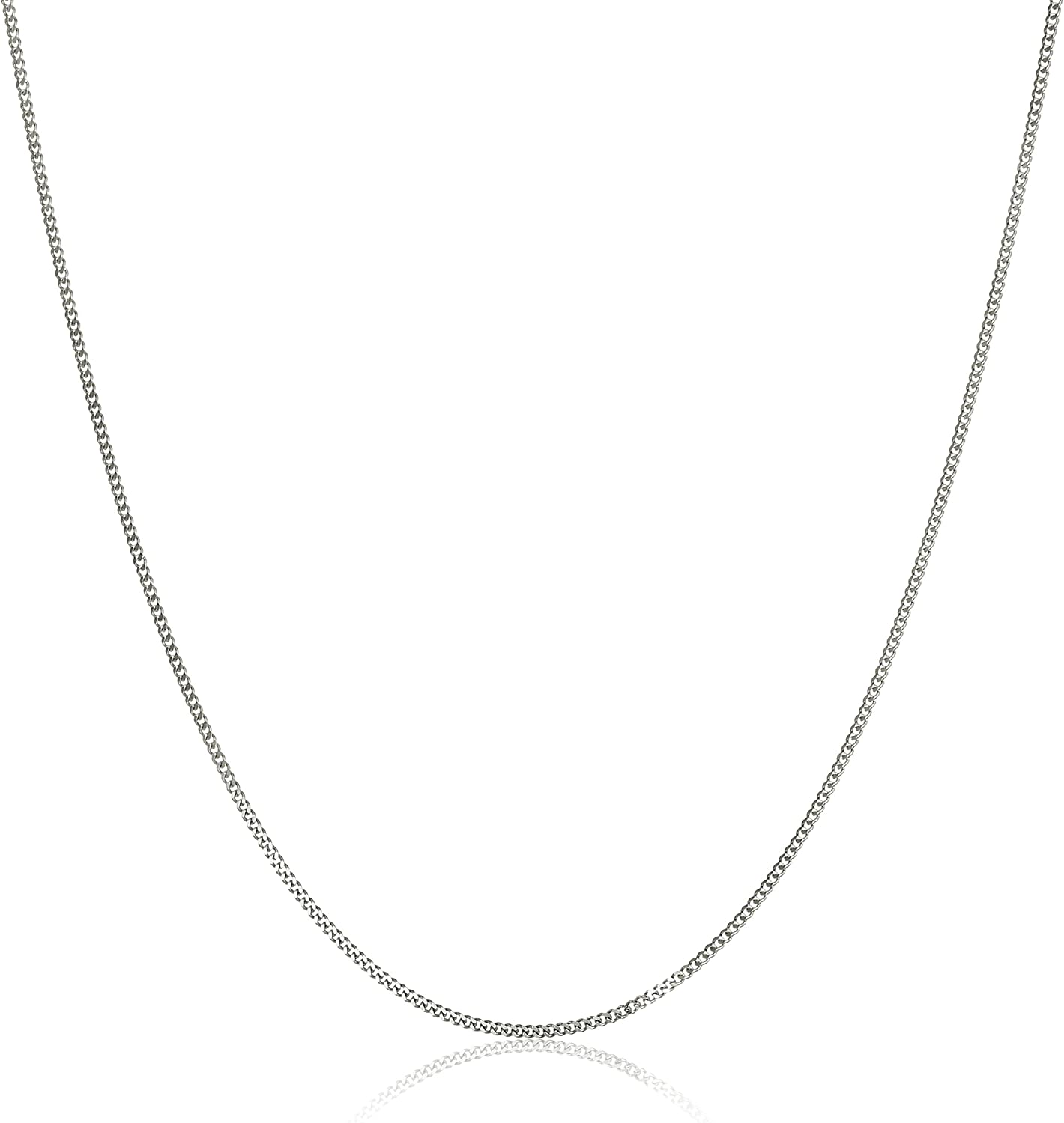 14k Luxury goods White Gold Baby Curb 29.5