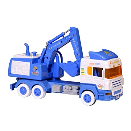 Mayatra's Big Size JCB Truck Friction Toy with Moveable Parts (30cm Long)