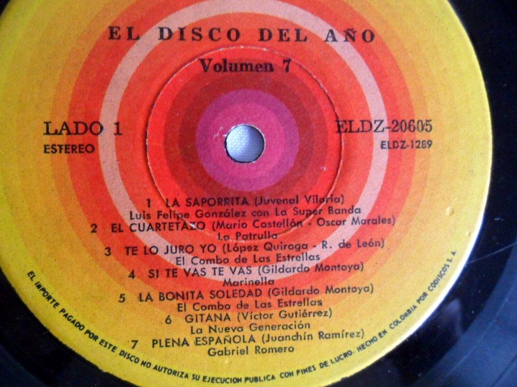 Amazon.com: LP EL DISCO DEL AÑO VOL.7 ZEIDA-CODISCOS: Music
