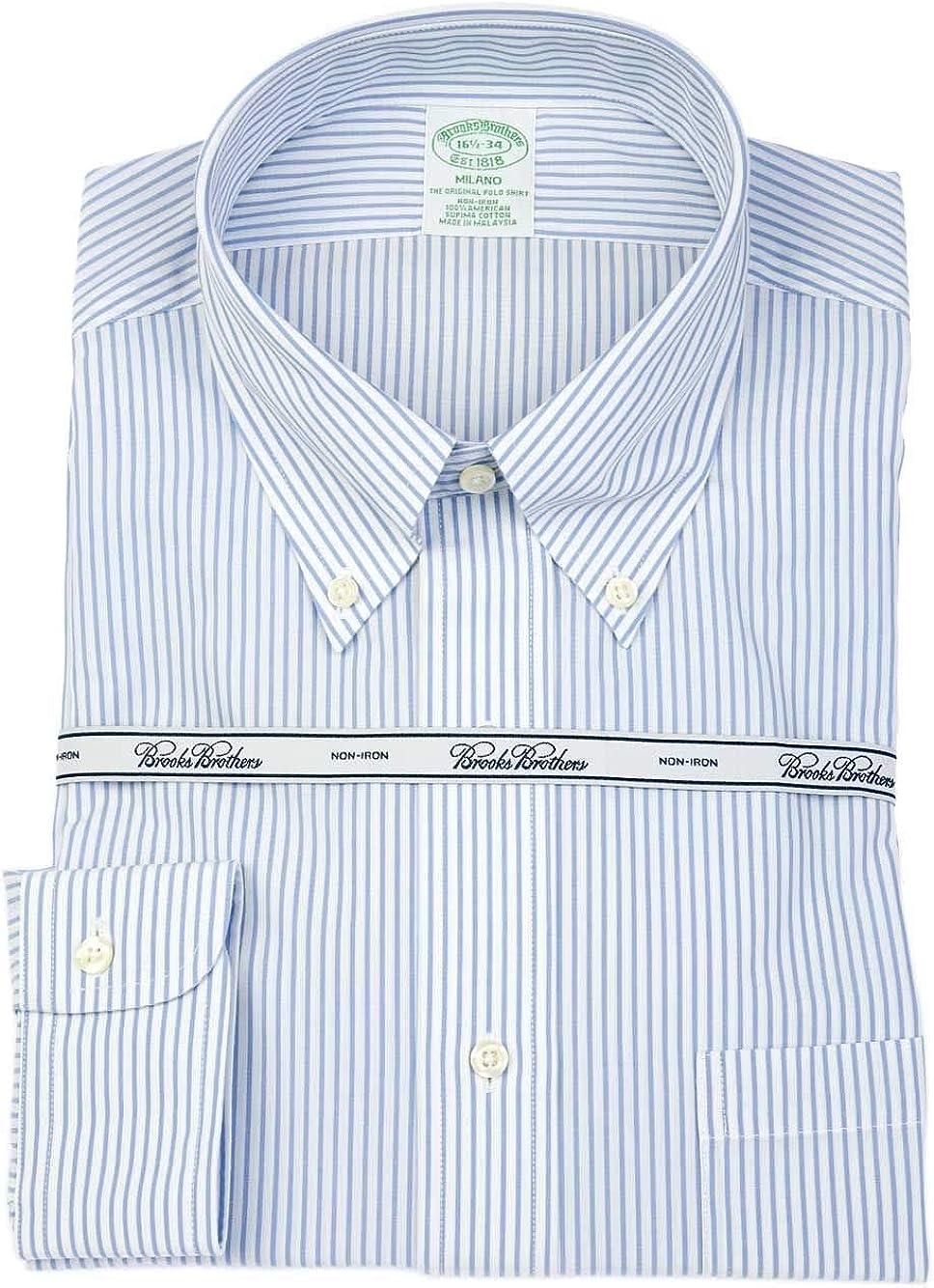 BROOKS BROTHERS Luxury Fashion Hombre 67800AZZURRO Azul Claro Camisa | Temporada Outlet: Amazon.es: Ropa y accesorios
