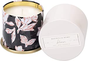 Magnolia Home Bloom Scented 3.0 oz Soy Wax Tin Candle by Joanna Gaines - Illume Pack of 2