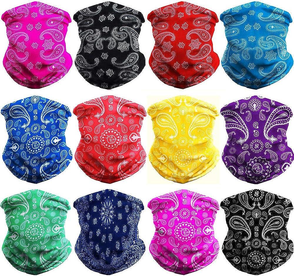 WONBURY Headwear Headband Bandana Neck Gaiter - Headwrap Balaclava Facemask Seamless for Outdoor