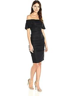 81f7223ba7e Nicole Miller Women s Beckett Stretch Linen Tuck Dress at Amazon ...