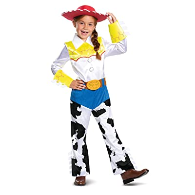 Disney Pixar Jessie Toy Story 4 Deluxe Girls' Costume: Toys & Games