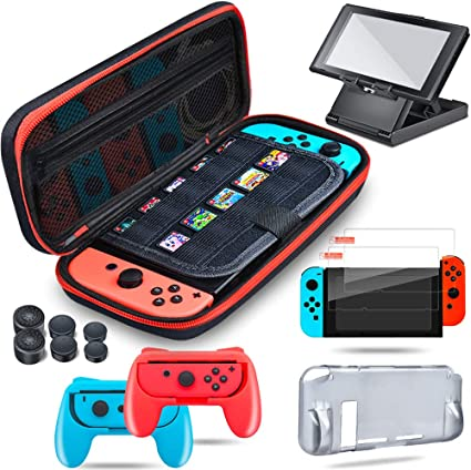 Accesorios Kit para Nintendo Switch Switch Accesorios Essentials Pack para Nintendo Switch: Amazon.es: Videojuegos