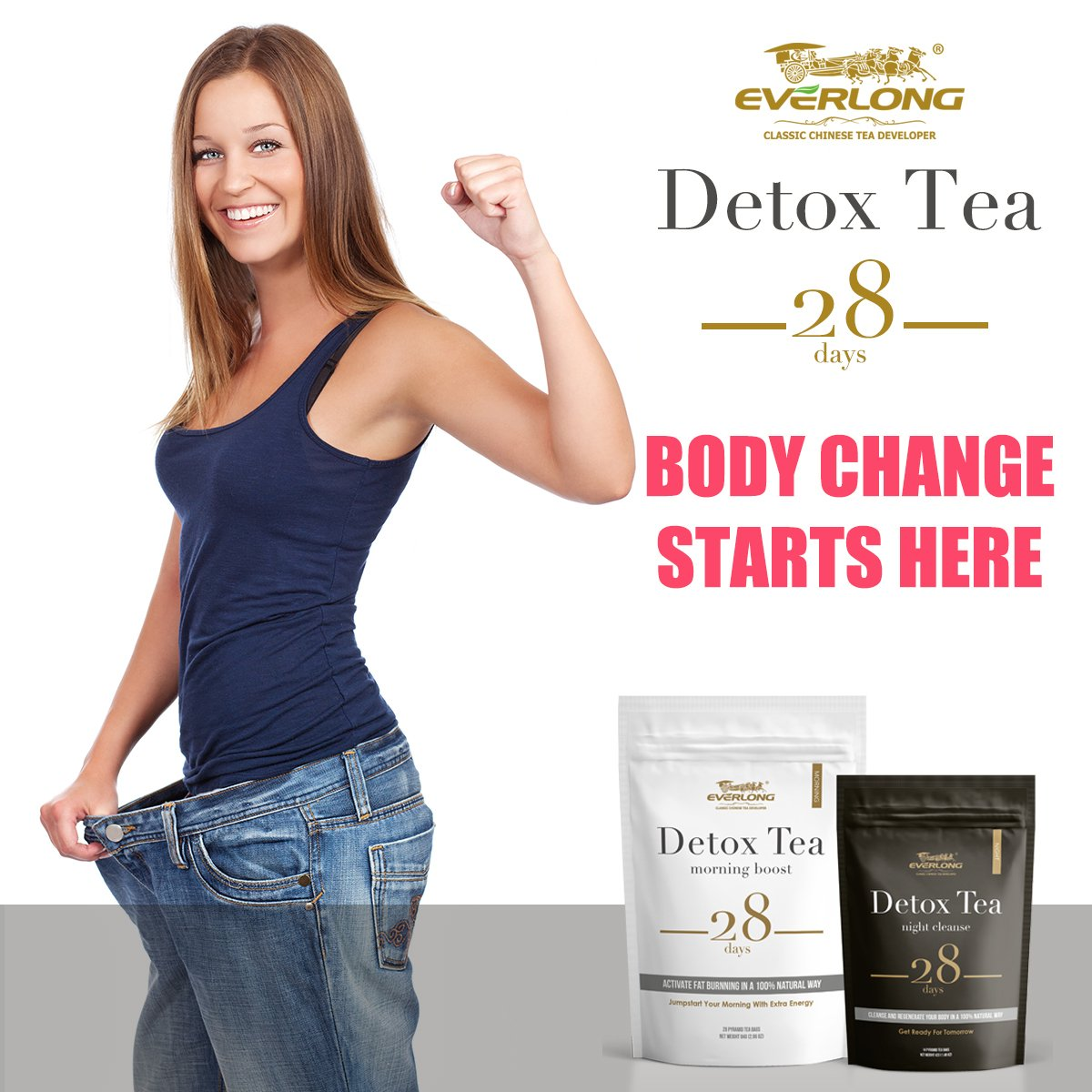 Detox Tea 28 Day Ultimate Teatox - Burn Fat and Boost Your Energy, Colon Cleanse and Flat Belly, Restore Your Body Natural Balance and Accelerate Weight Loss - Easy Brewing and Taste Delicious by EVERLONG (Image #6)