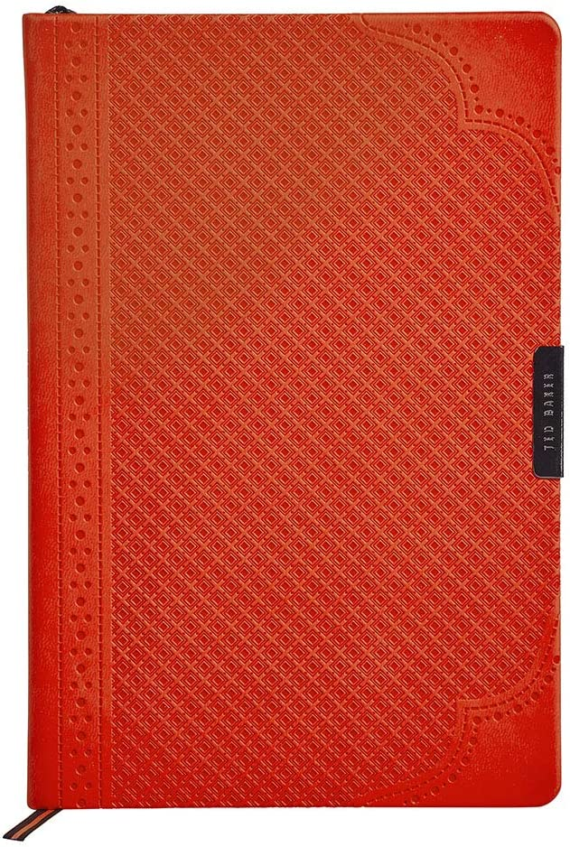 Ted Baker A5 Notebook - Orange Brogue Geo Design