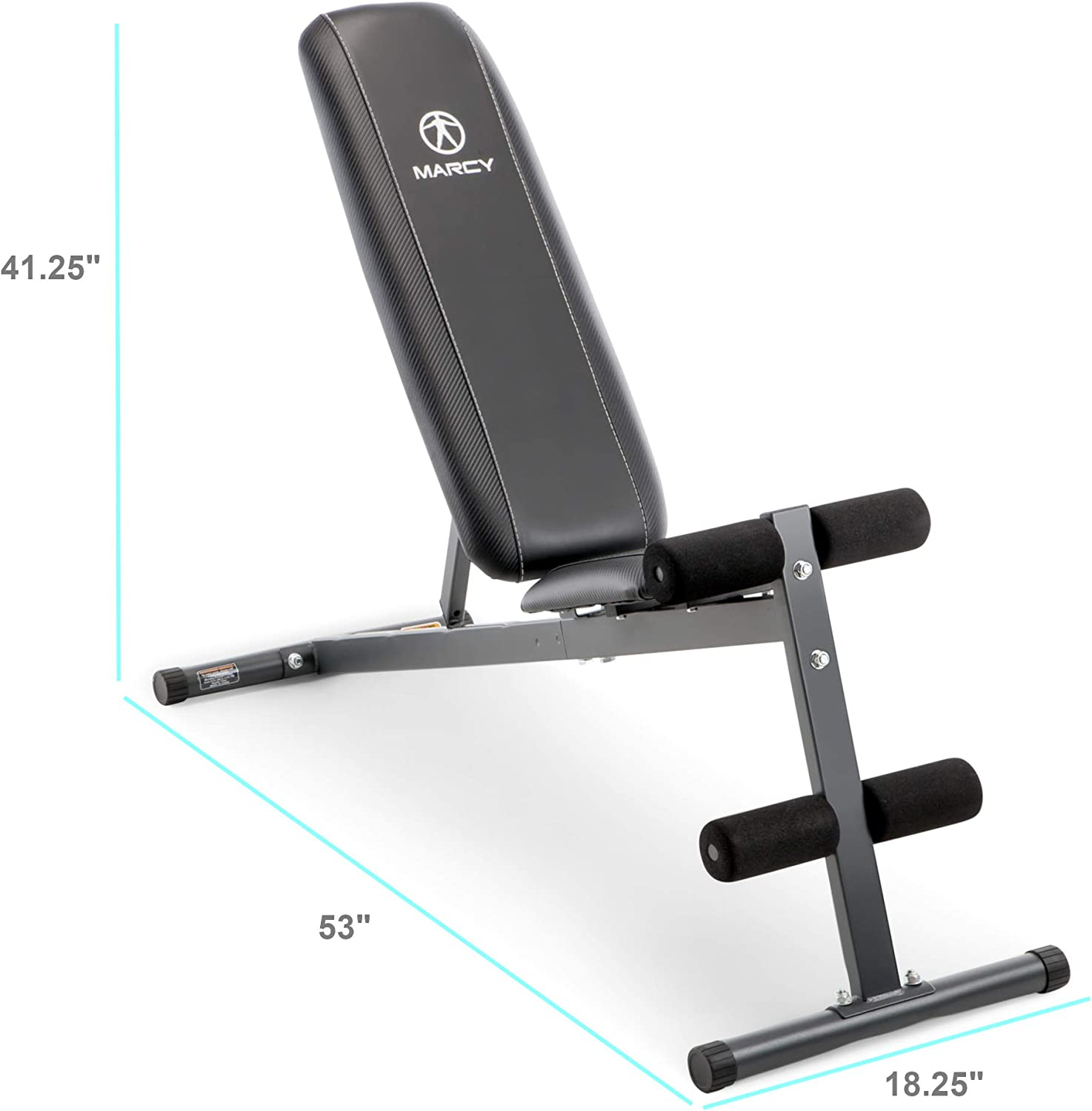 Marcy Exercise Utility Bench for Upright, Incline, Decline, and Flat Exercise SB-261W